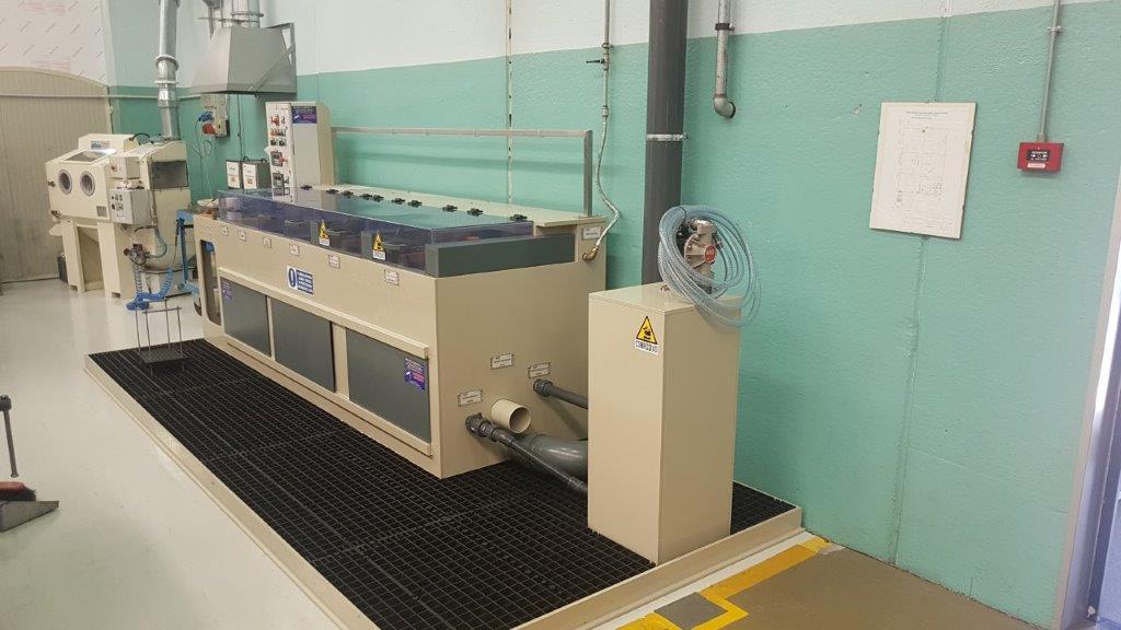 impianto elettrolucidatura titanio