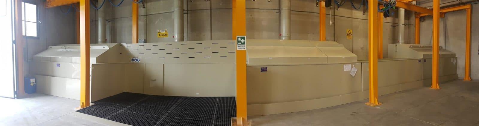 impianto decapaggio immersione inox