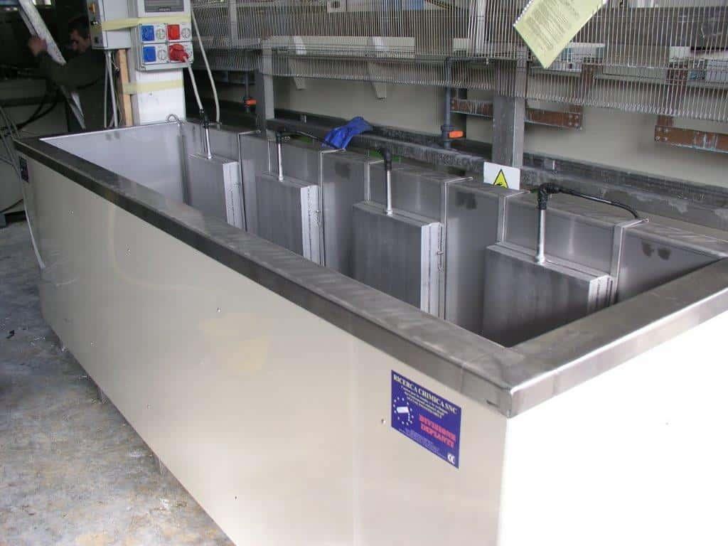 impianto vasca decapaggio inox