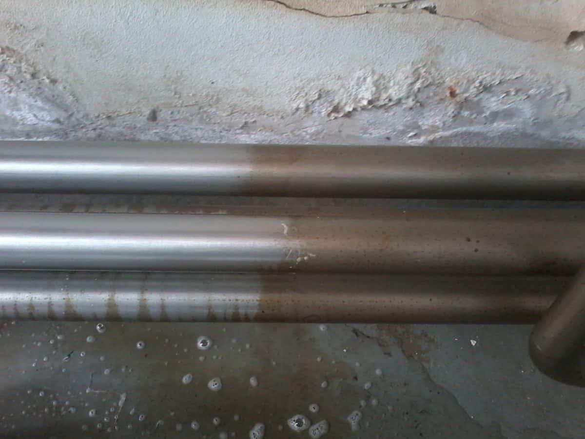 corrosione acciaio inox tubazioni